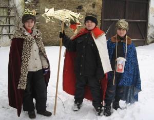 My tři králové jdeme k vám...