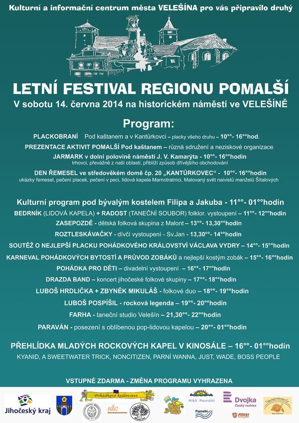 Letní festival regionu Pomalší 2014